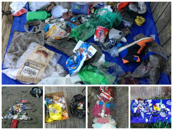 The slides of rubbish that I have been picking up from the beach over this past year, which I presented to Council.